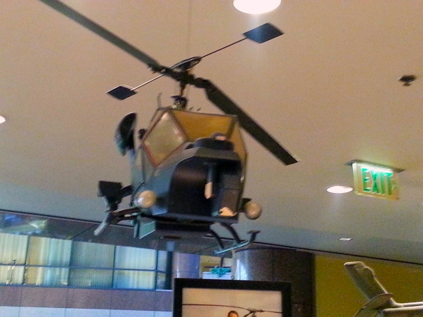 "This was hanging over the food court, it's from ""Blue Thunder"""