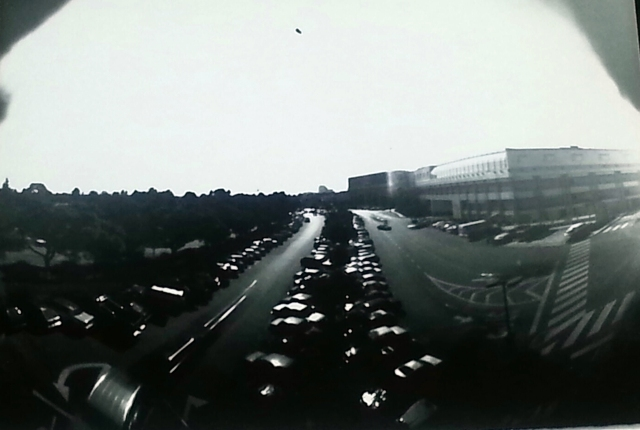 this is a pin hole camera shot of the Westside Pavillion