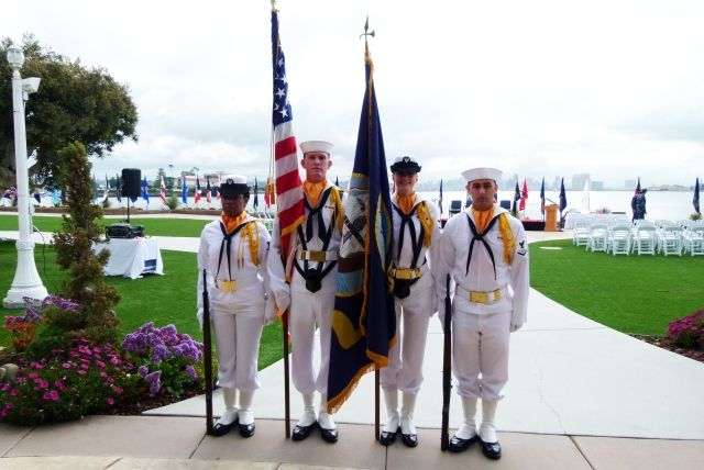 the Color Guard was practicing their steps and were more than to pose for a picture.