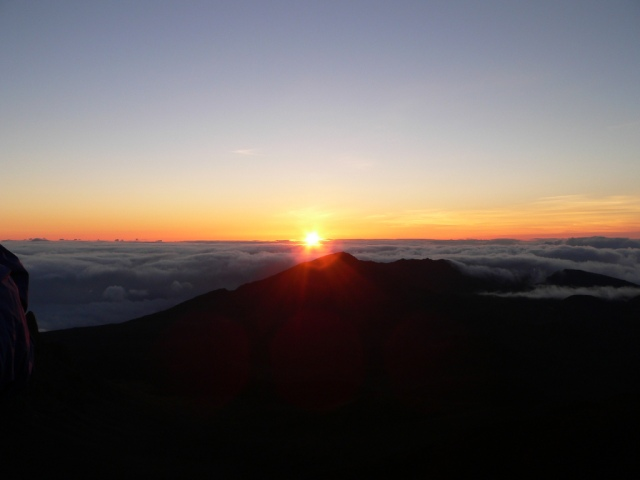 sunrise as seen from on top of Haleakalā