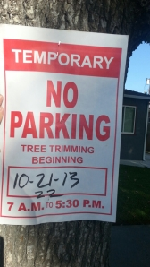tree cut sign