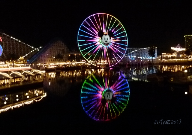 As we were leaving the Pier area, and heading out of DCA for the night, I grabbed a shot of Mickey's Fun Wheel with it's reflection on the water.